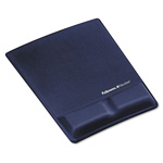 Fellowes Memory Foam Wrist Support With Attached Mouse Pad, Saphire