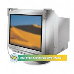 "Fellowes Privacy Filter for 16 17"" CRT/LCD, Anti Radiation/Static/Glare, Platinum"