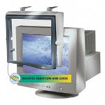 "Fellowes Picture Perfect Filter for 16-17"" CRT/LCD, Anti Rad/Static/Glare, Platinum"