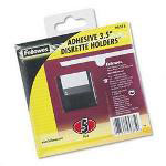 "Fellowes Self Adhesive 3.5"" Diskette Pockets, Clear, 5/Pack"