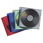 Fellowes Thin Jewel Cases, Multicolor, 50 per Pack