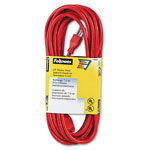 Fellowes 99597 Indoor/Outdoor Heavy Duty 3 Prong Plug Extension Cord, 1 Outlet, 25 ft., Orange