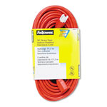 Fellowes 99598 Indoor/Outdoor Heavy Duty 3 Prong Plug Extension Cord, 1 Outlet, 50 ft., Orange