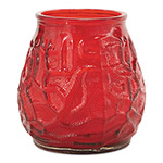 "Fancy Heat Victorian Filled Glass Candles, Red, 60 Hour Burn, 3 3/4""High, 12/Carton"