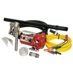 Tuthill Transfer 12V DC Bung Mounted Pump with Hose and Nozzle