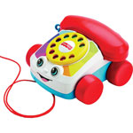 "Fisher-Price Chatter Telephone Toy, 6-3/10""Wx7-7/10""Lx4-1/5""H, Multi"