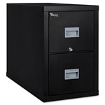Fireking Patriot Insulated Two-Drawer Fire File, 17 3/4w x 31 5/8d x 27 3/4h, Black