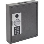 Fireking Key Cabinet w/E-Lock, 30 Tags, Black/Silver