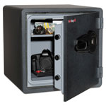 Fireking One Hour Fire and Water Safe w/Biometric Fingerprint Lock, 3.66 cu. ft, Graphite
