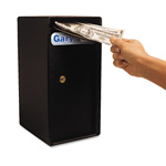 Fireking MS1206 Compact Cash Trim Safe, Steel, Black