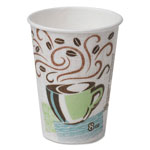 Dixie Hot Cups, Paper, 8oz, Coffee Dreams Design, 1000/Carton