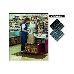 "Crown Mats & Matting Vinyl Floor Mat, 36"" x 60"", Black"