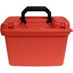 "Flambeau First Aid Transport Case, 15-1/4"" x 7-5/8"" x 10-1/8"", Orange"