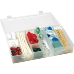 "Flambeau StorageBox, 6-12 Compartmts, Poly, 11"" x 6-3/4"" x 1-3/4"""