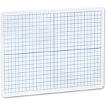 "Flipside Dry Erase XY Axis Board Dual Sided, 9"" x 12"", White"