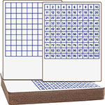 Flipside Hundreds Grid Dry-Erase Board, 12/ST, White/Blue