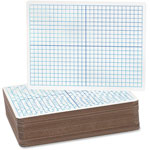 "Flipside Dry-Erase Board, Dual-Sided, 9"" x 12"", 12/PK, XY Axis/Plain"