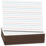"Flipside Dry Erase Board, 9"" x 12"", Red/Blue Ruled, 24/PK, WE"
