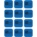 Flipside Magnetic Whiteboard Student Erasers, 12ST/CT, Blue