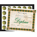 Flipside Diploma Folder And Seal Set, 30/PK, Black