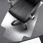 "Floortex Clear Polycarbonate Chair Mat with Lip, 48"" x 53"""