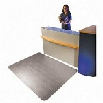 "Floortex Clear Rectangular Chairmat with Grippers, 48""x60"""