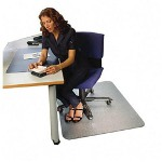 "Floortex Clear Rectangular Chairmat with Grippers, 35""x47"""