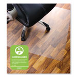 "Floortex Clear Rectangular Hard Floor Chairmat with Smooth Back, 48""x53"""