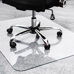 "Floortex Glass Chair Mat, 40"" x 53"", Clear"