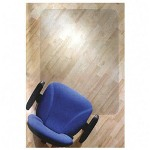 "Floortex Clear Rectangular Hard Floor Chairmat with Smooth Back, 35""x47"""