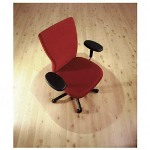 "Floortex Clear Contoured Hard Floor Chairmat with Smooth Back, 39""x49"""