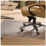 "Floortex Antimicrobial Chairmat, Med Pile, Studded, 36"" x 48"", Clear"