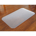 "Floortex Anti-Microbial Desk Pad, 17"" x 22"", Clear"
