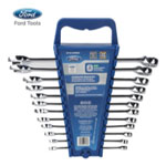 Ford Motor Company 12 Piece Combination Wrench Set , Metric Elliptical Panel