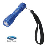 Ford Motor Company Aluminum LED Flashlight, 65 Lumen, Battery Operated