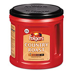 Folgers Coffee, Country Roast, Ground, 34 1/2 oz Canister, 6/Carton