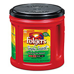 Folgers Coffee, Simply Smooth, 34 1/2 oz Canister, 6/Carton