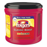 Folgers Coffee, Classic Roast, 30 1/2 oz Canister, 6/Carton, 294/Pallet