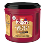 Folgers Coffee, Country Roast, 31.1 oz Canister, 6/Carton