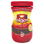 Folgers Instant Coffee Crystals, Regular, 8oz Jar