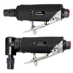"GM Air Die Grinder Kit, 1/4"" Collets, 22,000 RPM, with Mini Angle Grinder, Straight Grinder and Stones"