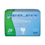 First Quality Prevail® Per-Fit Protective Underwear, Medium 34-44