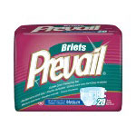 "First Quality Prevail® Premium Medium Briefs, 32"" -44"", 20 Per Pack"