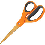 "Fiskars Contoured Scissors, Straight, Softgrip, 8"" L, Orange"