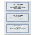 "First-Base Gift Certificates, 8 1/2"" x 11"", 24 lb, Regent Certificates, Beige/Silver"