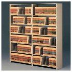 Tennsco Snap Together Open Shelving Add On Unit, Sand Finish, 48w x 88h, 7 Shelves