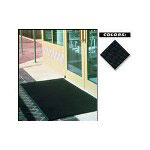 "Crown Mats & Matting Rubber Floor Mat, 36"" x 72"", Black"