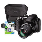 Fuji FinePix S4200 Digital Camera Bundle, 14 MP, 24x Optical Zoom; 6.7x Digital Zoom