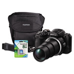 Fuji FinePix S8600 Digital Camera Bundle, 36x Optical Zoom, 16MP