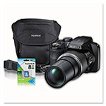 Fuji S9900W Digital Camera,16 MP, 50x Optical Zoom, Black